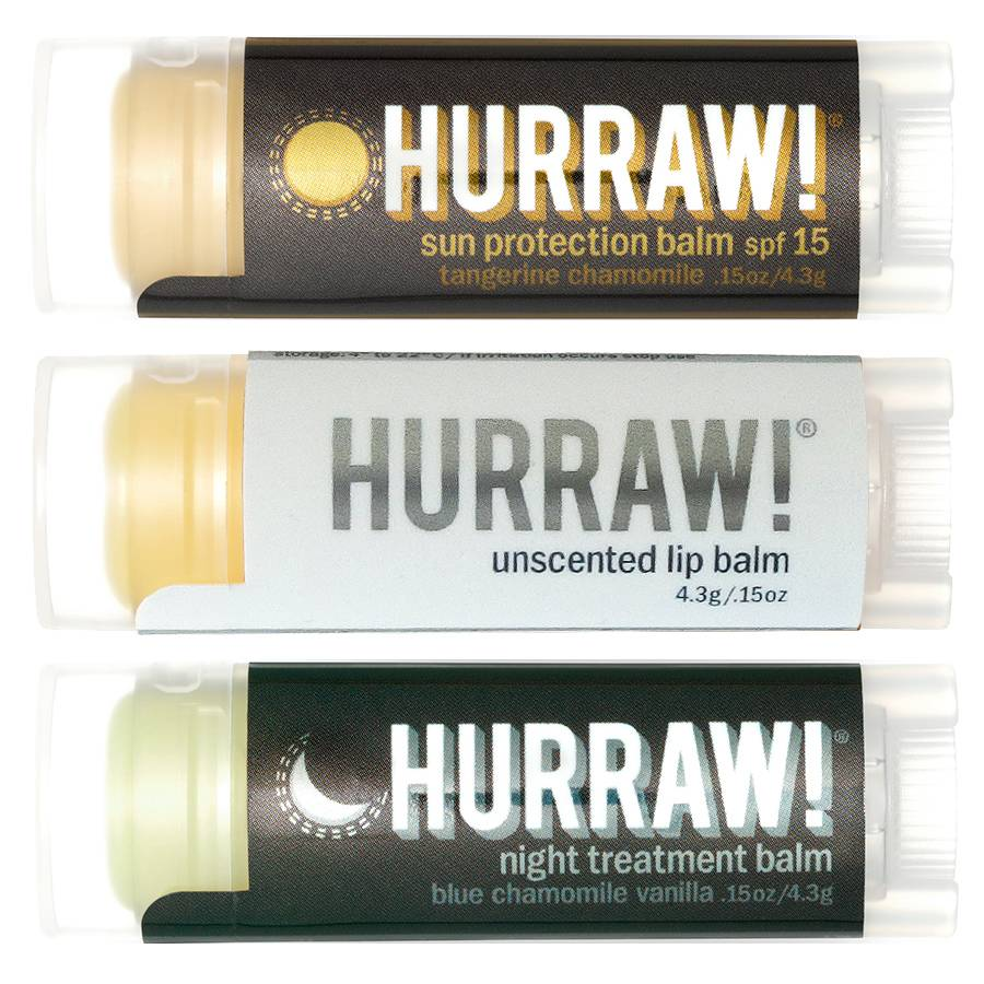 Hurraw! Basic Protection Lip Balm Voordeel Trio