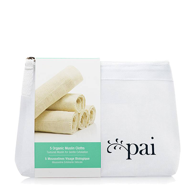 Pai Skincare Reinigingsdoekjes Organic Muslin Face Cloth 5-Pack