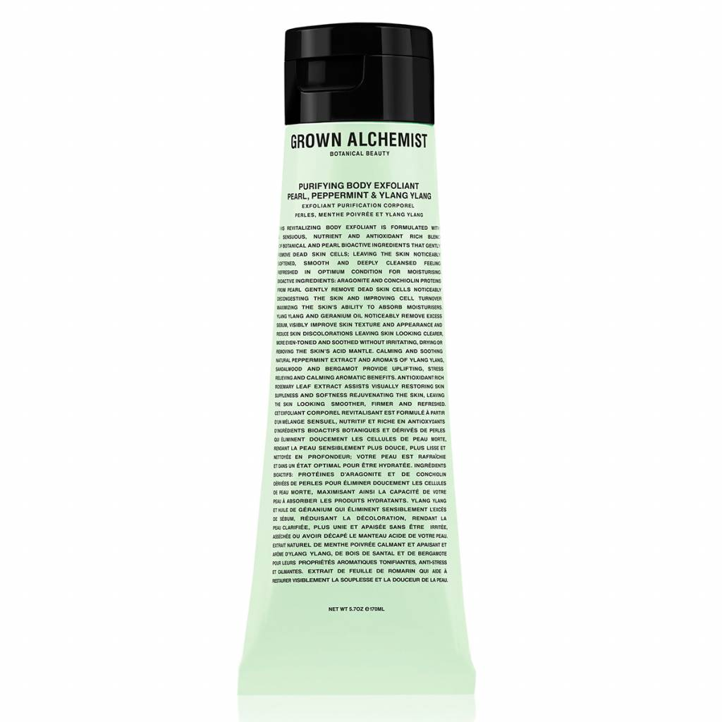 Grown Alchemist Purifying Body Exfoliant Pearl, Peppermint & Ylang Ylang