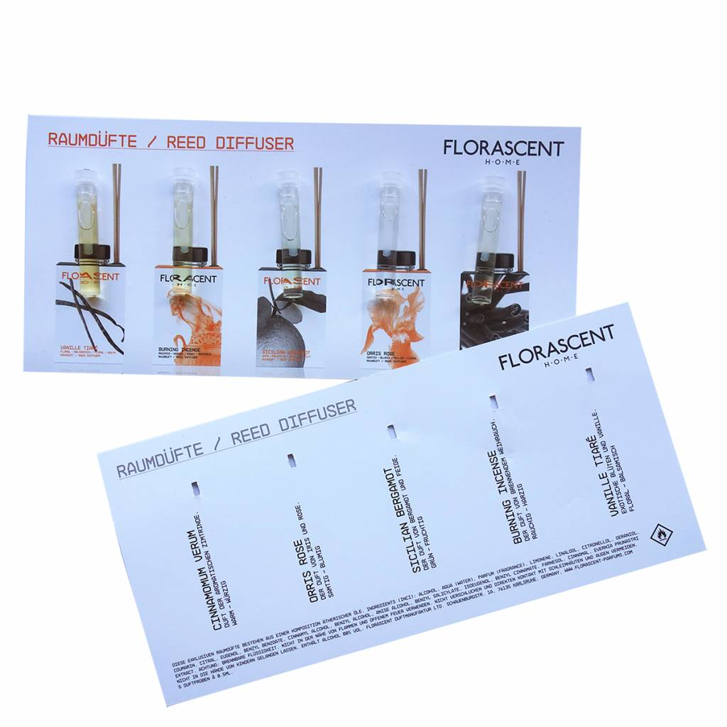 Florascent The Cubes Reed Diffuser Sample Set