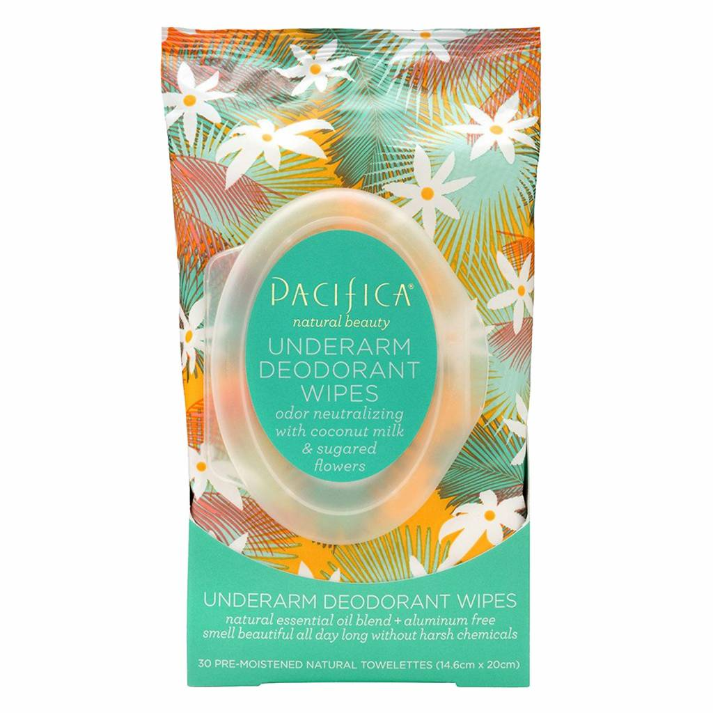 Pacifica Underarm Deodorant Wipes Coconut Milk & Sugared Flowers