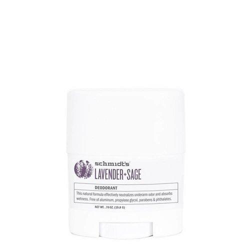Schmidt's Naturals Deodorant Travel Stick Lavender & Sage