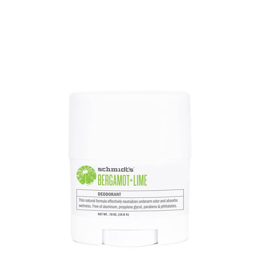 Schmidts Natural Deodorant Travel Stick Bergamot & Lime