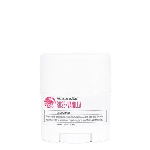 Schmidt's Naturals Deodorant Travel Stick Rose & Vanilla