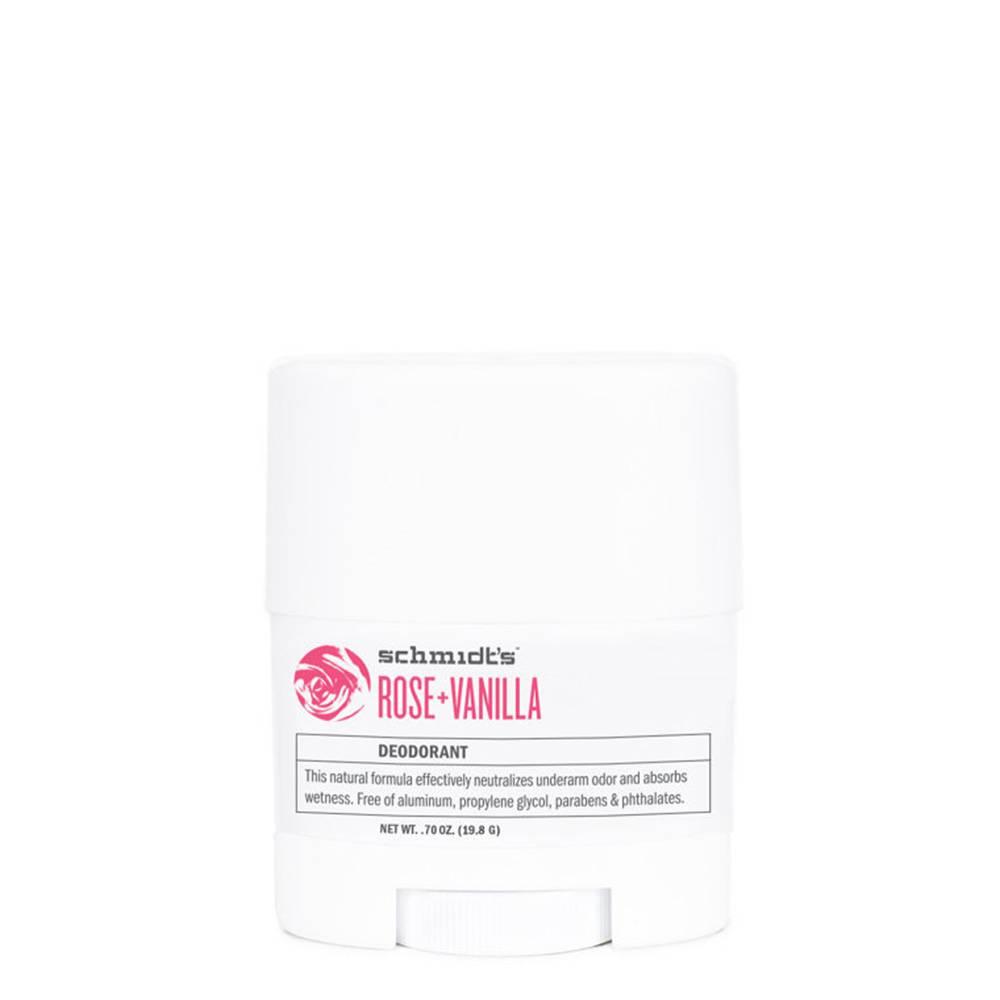 schmidts natural deodorant travel stick rose vanilla. Black Bedroom Furniture Sets. Home Design Ideas