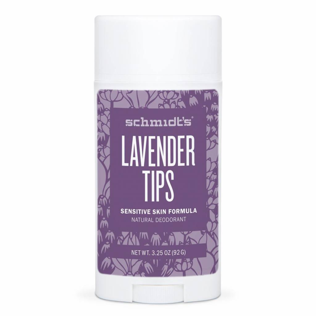 Schmidt's Naturals Natural Deodorant Stick Sensitive Lavender Tips