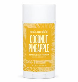 Schmidt's Naturals Deodorant Stick Sensitive Coconut Pineapple