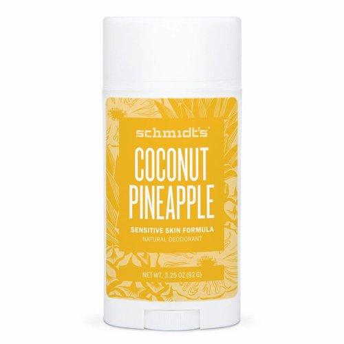 Schmidt's Naturals Deodorant Stick Sensitive Coconut Pineapple