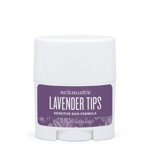 Schmidt's Naturals Deodorant Travel Stick Sensitive Lavender Tips