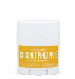 Schmidt's Naturals Deodorant Travel Stick Sensitive Coconut Pineapple
