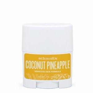 Schmidt's Naturals Deodorant Travel Stick Sensitive Coconut Pineapple