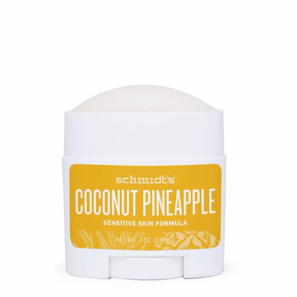 Schmidt's Naturals Natural Deodorant Travel Stick Sensitive Coconut Pineapple