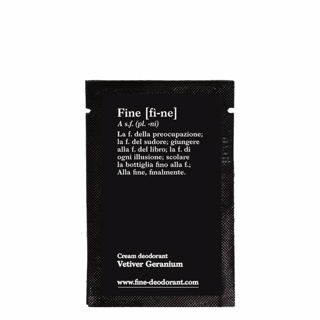 Fine Cream Deodorant Vetiver Geranium Sample