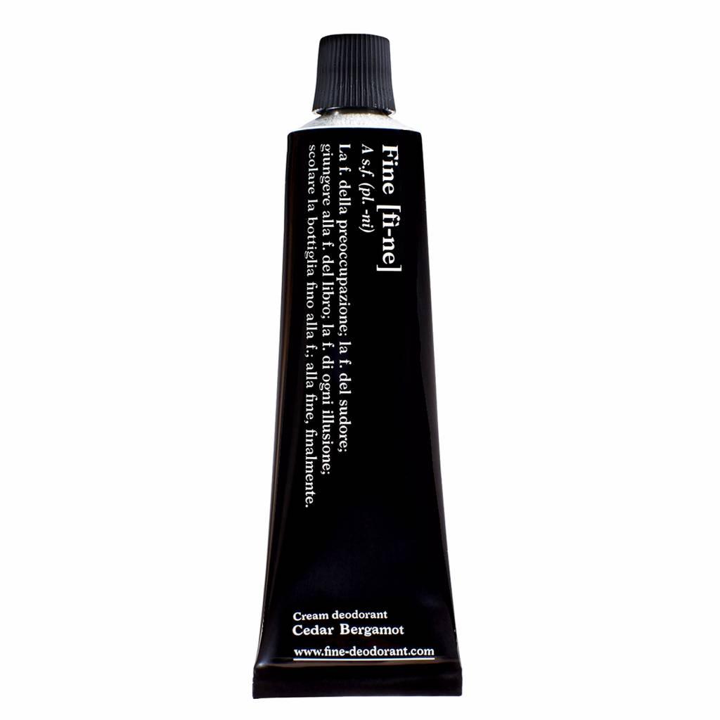 Fine Natural Cream Deodorant Cedar Bergamot Tube