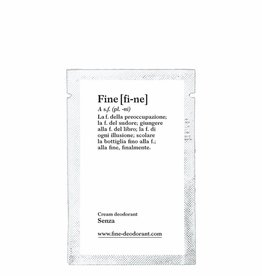 Fine Cream Deodorant Senza Sample