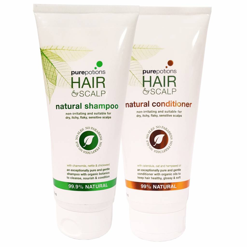 Purepotions Natural Shampoo + Conditioner Voordeelset