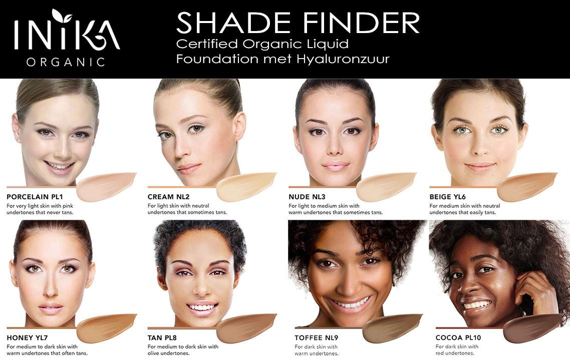 INIKA Shade Finder Liquid Foundation