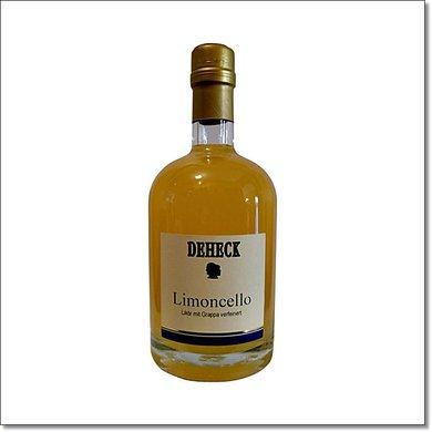 Deheck Limoncello-Likör mit Grappa verfeinert 500 ml 20% Vol. - Copy