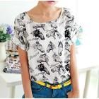 Shirt met paardenafbeeldingen