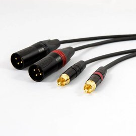 RCA - XLR male kabel, verguld