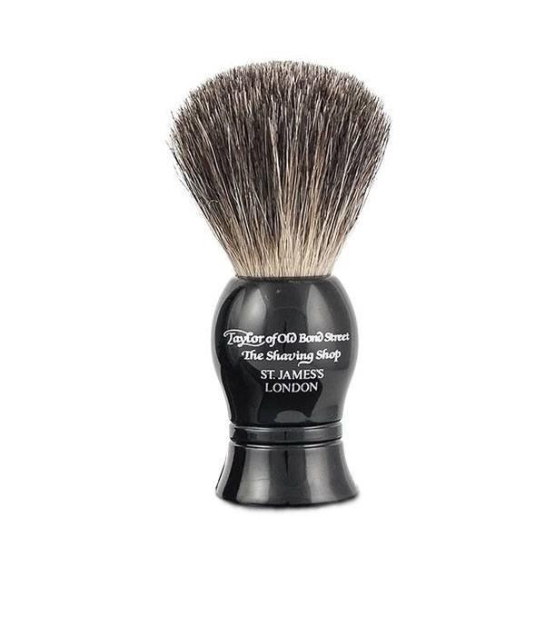 Taylor of Old Bond Street 9,5 cm Pure Badger kwast Zwart