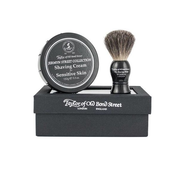 Giftset Jermyn Street Collection Shaving Cream + Pure Badger kwast