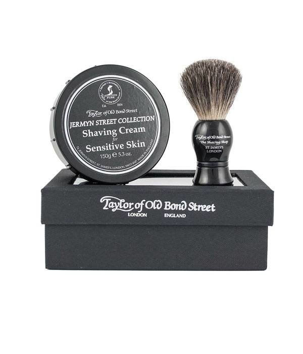 Taylor of Old Bond Street Giftset Jermyn Street Collection Shaving Cream + Pure Badger kwast