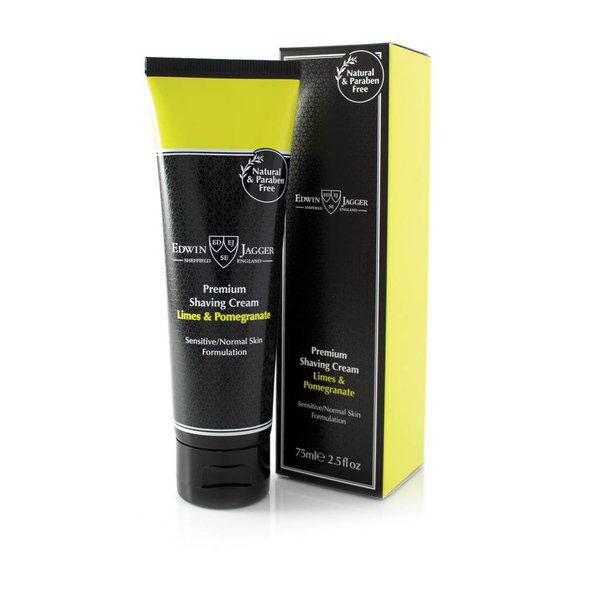 Premium scheercrème Lime & Pomegranate tube