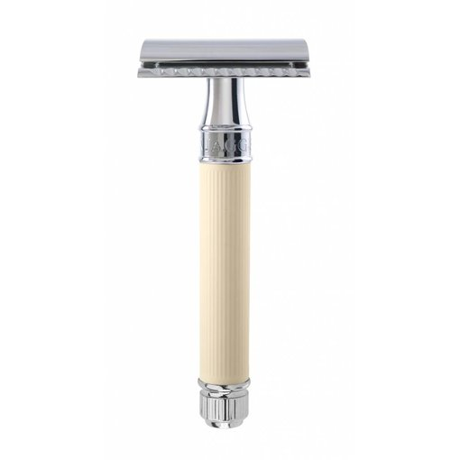 Edwin Jagger Double Edged Safety Razor Rubber Ivory