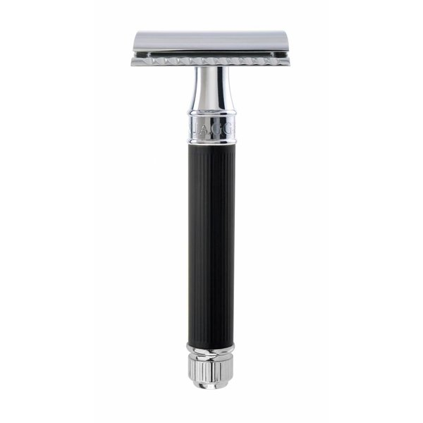 Double Edged Safety Razor Rubber Black