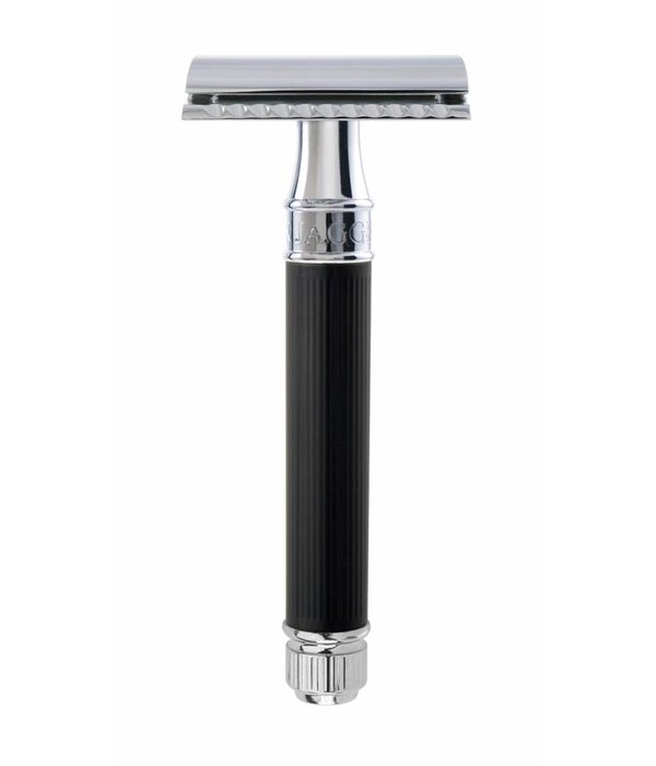 Edwin Jagger Double Edged Safety Razor Rubber Black