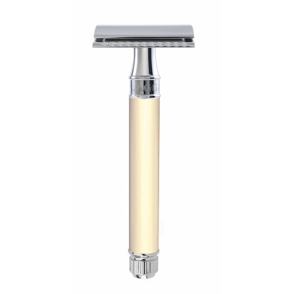 Double Edged Safety Razor extra lang Rubber Ivory