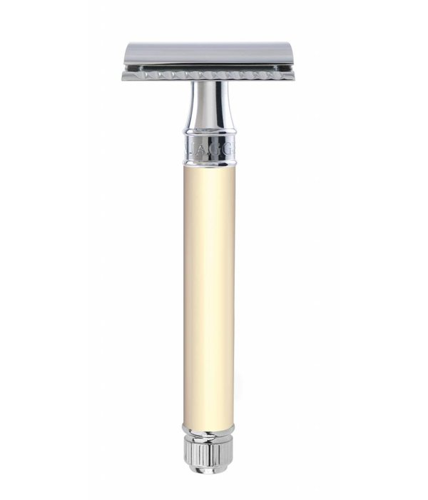 Edwin Jagger Double Edged Safety Razor extra lang Rubber Ivory