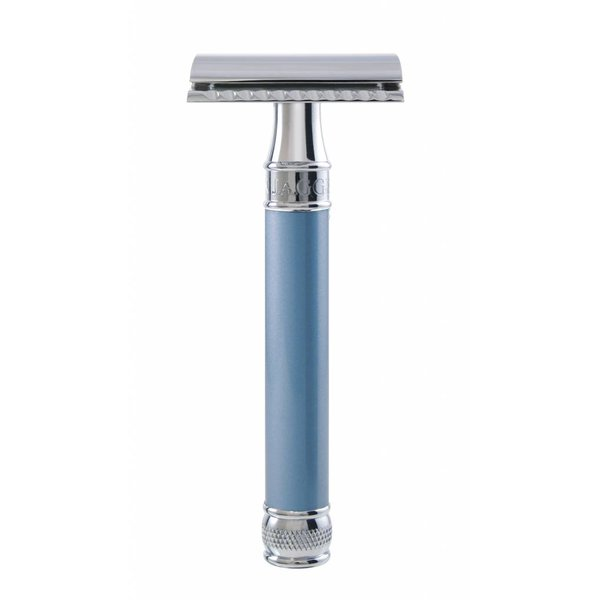 Double Edged Safety Razor extra lang Blue