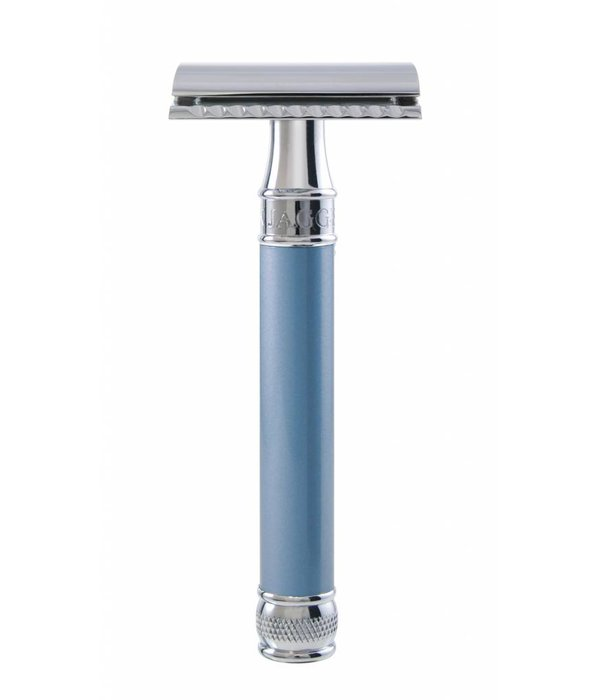 Edwin Jagger Double Edged Safety Razor extra lang Blue