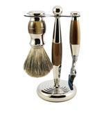 Edwin Jagger 3-delige Fusion® scheerset Nickel & Light Horn