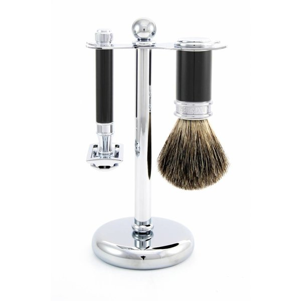 3-delige Safety Razor scheerset Ebony