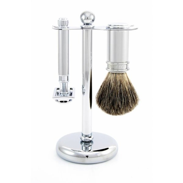 3-delige Safety Razor scheerset Nickel