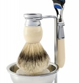 Edwin Jagger Riva Fusion® 4-delige scheerset Ivory