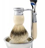 Edwin Jagger Riva Fusion® 4-delige scheerset Ivory