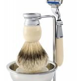 Edwin Jagger Riva Mach3® 4-delige scheerset Ivory