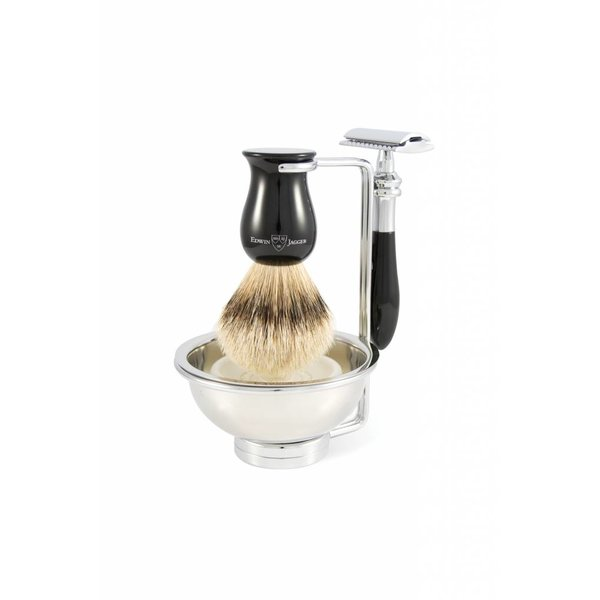 Plaza Safety Razor 4-delige scheerset Ebony