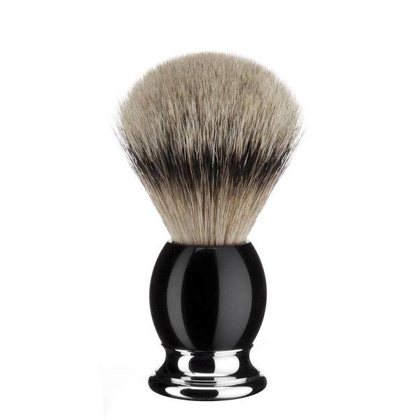 Mühle Sophist scheerkwast maat L Silvertip – Zwart