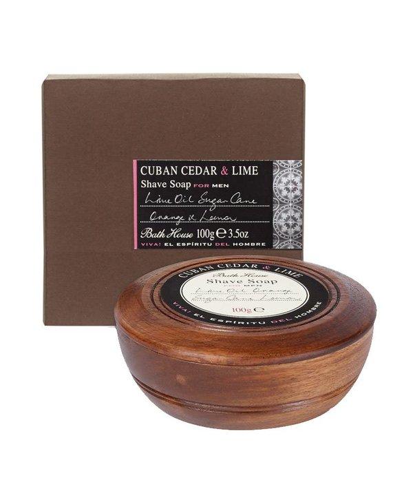 BATH HOUSE Scheerzeep Cuban Cedar & Lime Wooden Bowl