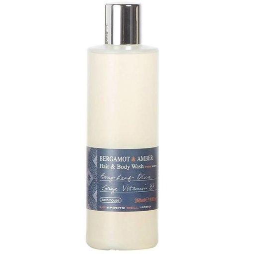 BATH HOUSE Hair & Bodywash Bergamot & Amber
