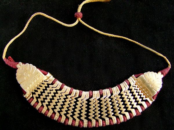 Tribal Silver Choker, gold plated