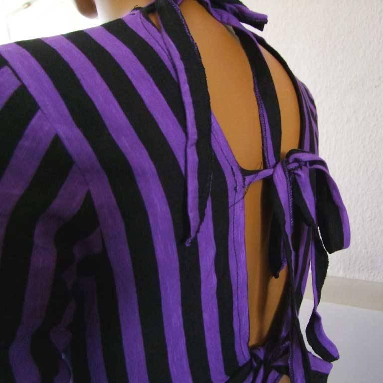 Tribal Choli Streifen lila