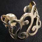 Tribal bracelets brass and German silver