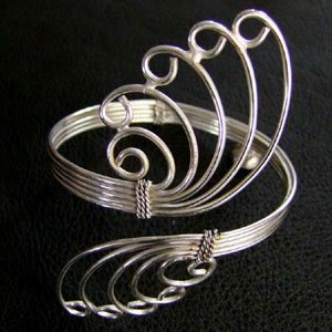 Upperarm Bracelets brass and German silver