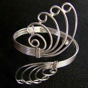 Upperarm Bracelets brass and German silver
